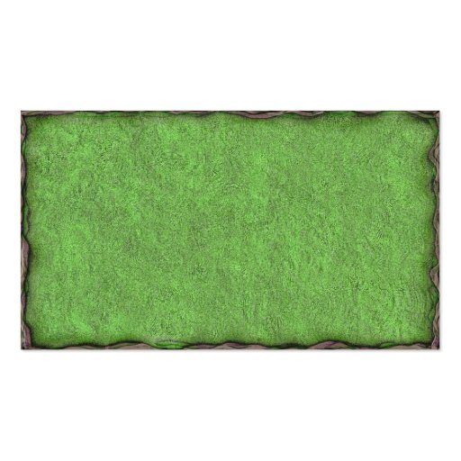 Green Textured Card with Border Business Card Template