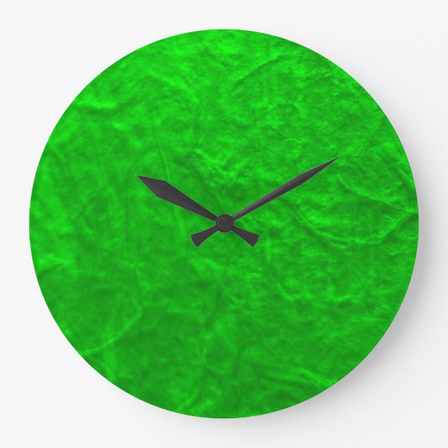 Green Textured Paper Acrylic Wall Clock