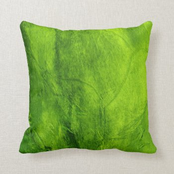 Green Textured Pillow