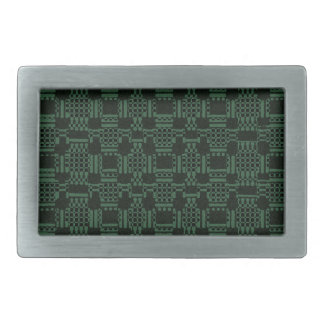 Green textured squares pattern belt buckle
