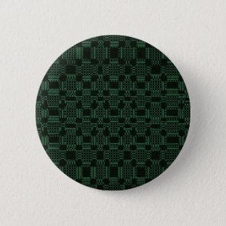 Green textured squares pattern pinback button