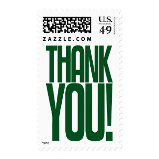 Green Thank You! Postage Stamp