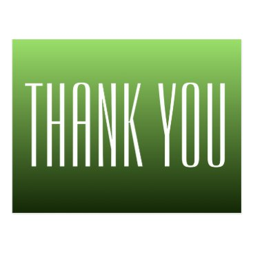Professional Business Green Thank You Postcard