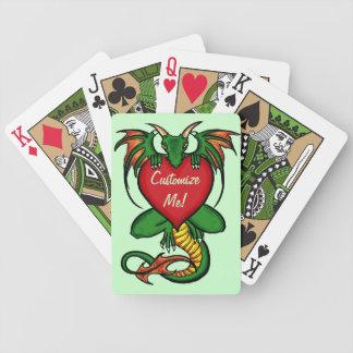 Green theme artistic dragon customizable cards