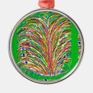 GREEN Theme  Artistic Grass Bush Colorful Spectrum Christmas Ornament