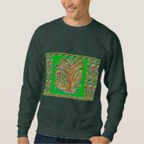 GREEN Theme  Artistic Grass Bush Colorful Spectrum Sweatshirt