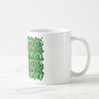 Green Theme : Military Camouflage Wave Pattern Classic White Coffee Mug