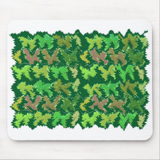 Green Theme : Military Camouflage Wave Pattern Mouse Pad