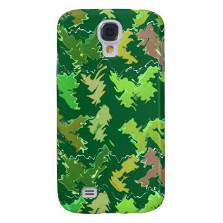 Green Theme : Military Camouflage Wave Pattern Samsung Galaxy S4 Cover