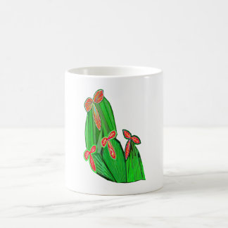 Green Theme Water Colors - CACTUS Cacti Coffee Mug