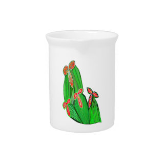 Green Theme Water Colors - CACTUS Cacti Pitcher
