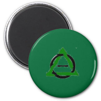 Green therian refrigerator magnet
