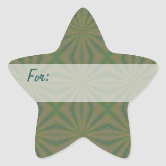 Green Thing Gift Tag Star Sticker