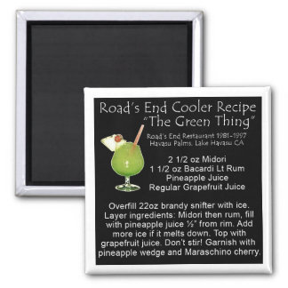 Green Thing Recipe 2 Inch Square Magnet