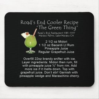 Green Thing Recipe Mouse Pad