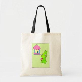Green thing tote bag