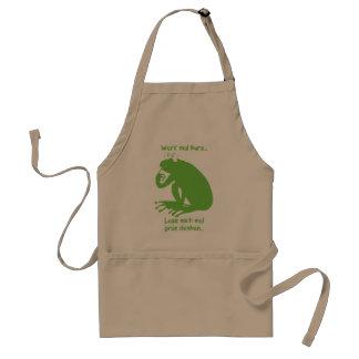 Green thinking adult apron