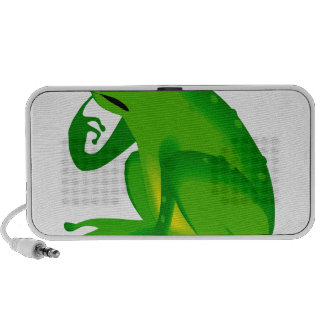 Green thinking frog portable speaker