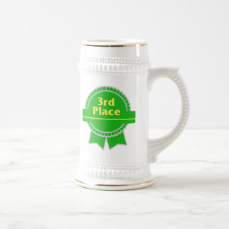 Green Third Place Ribbon Beer Stein