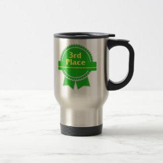Green Third Place Ribbon Travel Mug