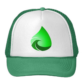 Green This Salty Life Wave Logo Trucker Hat