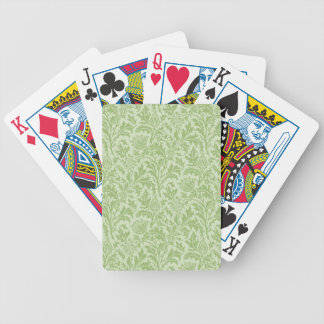 Green Thistle Pattern Card Deck
