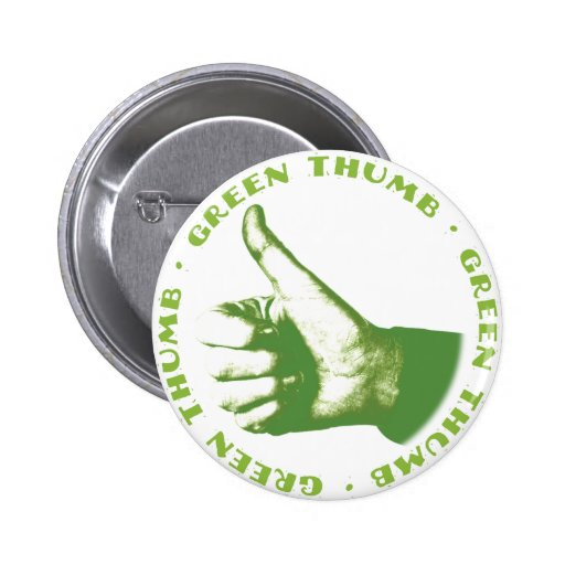 Green Thumb 2 Inch Round Button