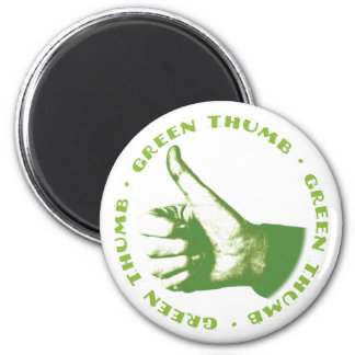 Green Thumb 2 Inch Round Magnet