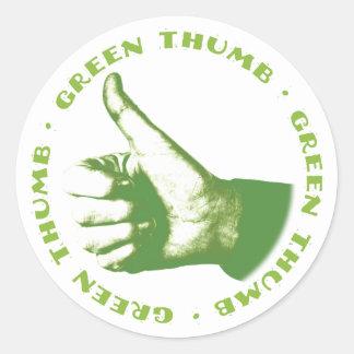Green Thumb Classic Round Sticker