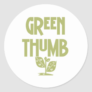 Green Thumb Classic Round Sticker