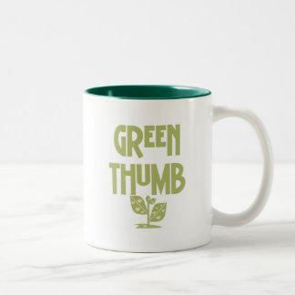 Green Thumb Gardening T-shirts and Gifts Two-Tone Coffee Mug
