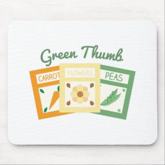 Green Thumb Mouse Pad