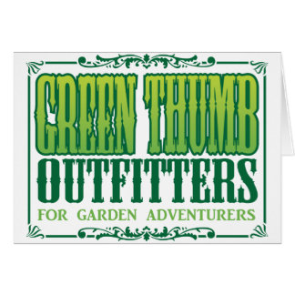 Green Thumb Outfitters Logo Card