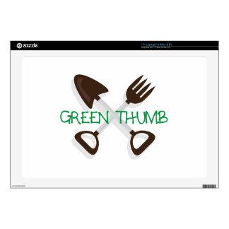 "Green Thumb 17"" Laptop Decal"