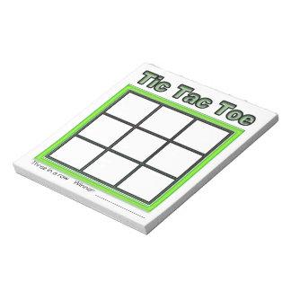 Green Tic Tac Toe Game Notepad