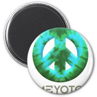 Green Tie Dye Meyoto Refrigerator Magnet