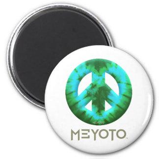 Green Tie Dye Meyoto Fridge Magnet