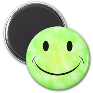Green Tie Dye Smiley Face Magnet