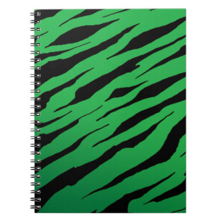 Green Tiger Stripe Notebook