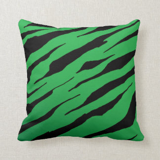 Green Tiger Stripe Pillows