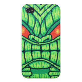 Green Tiki iPhone 4/4s Case