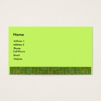 green tile business card