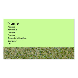 Green Tile Business Card Template