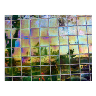 green tile postcard