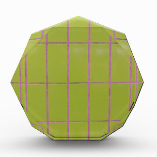 Green tile structure acrylic award