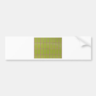 Green tile structure bumper sticker