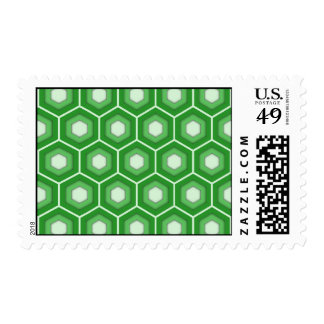 Green Tiled Hex Postage