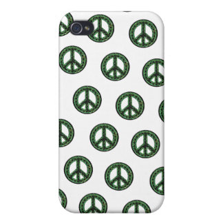 Green Tiled Peace IPhone 4 Case