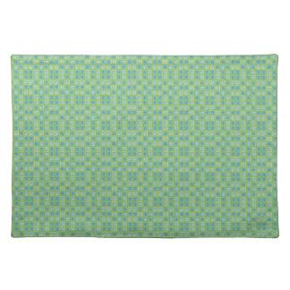 Green Tiled Placemat Cloth Place Mat