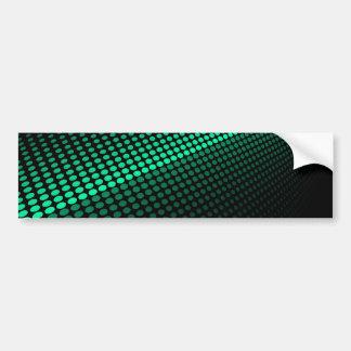 Green Tiles Car Bumper Sticker